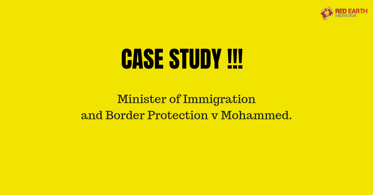 Minister Of Immigration And Border Protection V Mohammed.